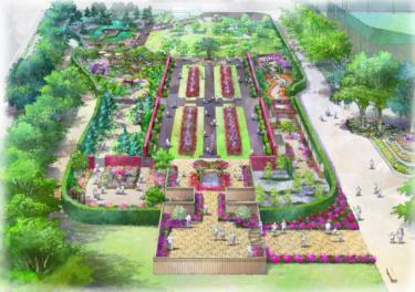 綾瀬市の光綾公園がバラ園や水遊び場を再整備 しているみたい